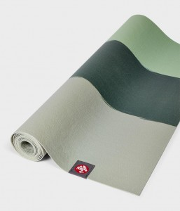 Manduka SuperLite Travel Green Ash Stripe 180x61 cm 1,5 mm